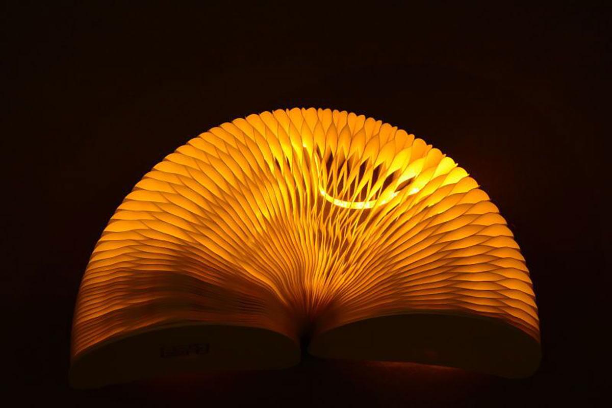 lampada da tavolo in carta
