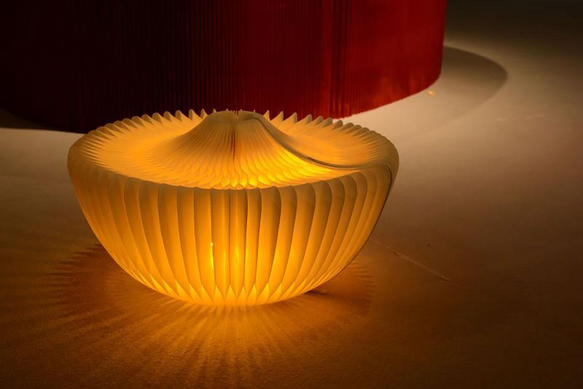 lampade da tavolo in cartone